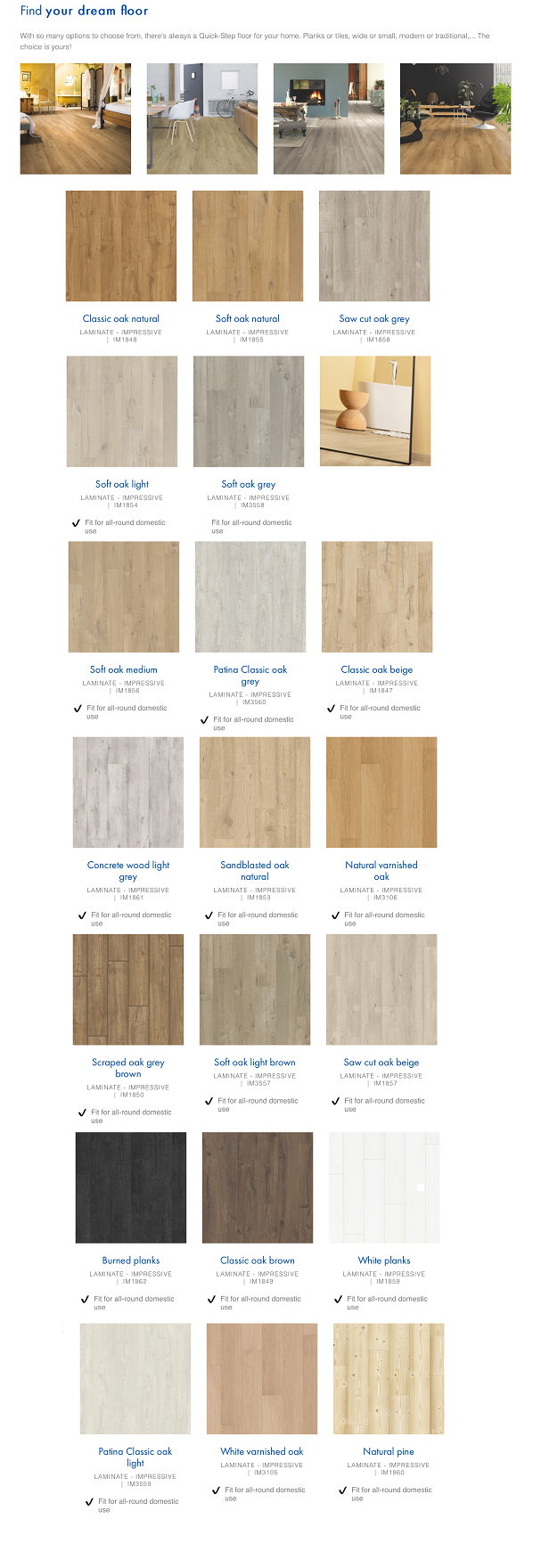 Quickstep Laminate flooring